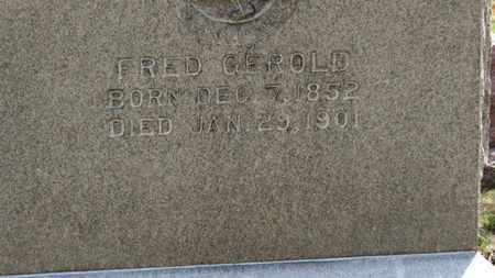 GEROLD, FRED - Erie County, Ohio | FRED GEROLD - Ohio Gravestone Photos