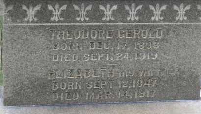GEROLD, THEODORE - Erie County, Ohio | THEODORE GEROLD - Ohio Gravestone Photos