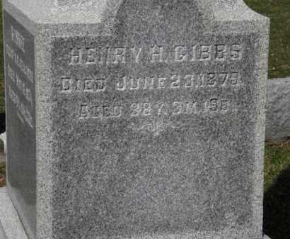 GIBBS, HENRY H. - Erie County, Ohio | HENRY H. GIBBS - Ohio Gravestone Photos