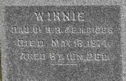 GIBBS, WINNIE - Erie County, Ohio | WINNIE GIBBS - Ohio Gravestone Photos