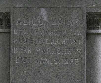 GILCHRIST, ALICE DAISEY - Erie County, Ohio   ALICE DAISEY GILCHRIST - Ohio Gravestone Photos