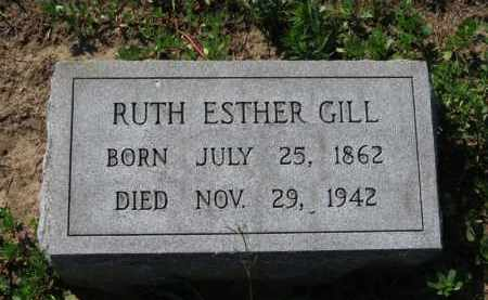 GILL, RUTH ESTHER - Erie County, Ohio | RUTH ESTHER GILL - Ohio Gravestone Photos