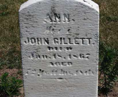 GILLETT, ANN - Erie County, Ohio | ANN GILLETT - Ohio Gravestone Photos