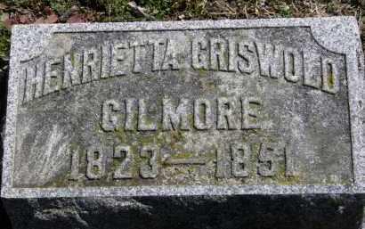 GILMORE, HENRIETTA GRISWOLD - Erie County, Ohio | HENRIETTA GRISWOLD GILMORE - Ohio Gravestone Photos