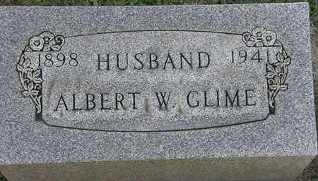 GLIME, ALBERT W. - Erie County, Ohio | ALBERT W. GLIME - Ohio Gravestone Photos