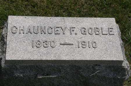 GOBLE, CHAUNCEY F. - Erie County, Ohio | CHAUNCEY F. GOBLE - Ohio Gravestone Photos