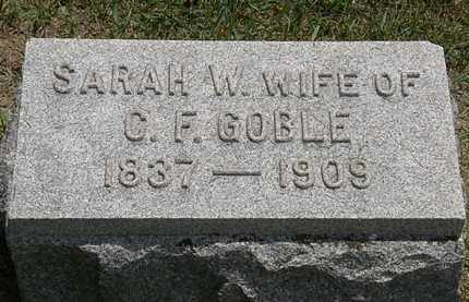 GOBLE, SARAH W. - Erie County, Ohio | SARAH W. GOBLE - Ohio Gravestone Photos