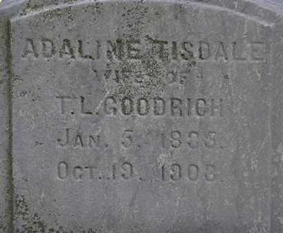 TISDALE GOODRICH, ADALINE - Erie County, Ohio | ADALINE TISDALE GOODRICH - Ohio Gravestone Photos