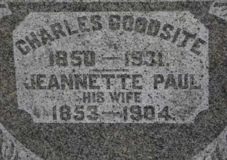 GOODSITE, JEANNETTE - Erie County, Ohio | JEANNETTE GOODSITE - Ohio Gravestone Photos