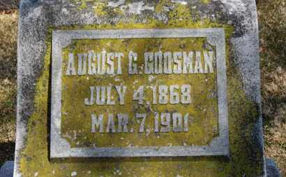 GOOSMAN, AUGUST G. - Erie County, Ohio | AUGUST G. GOOSMAN - Ohio Gravestone Photos