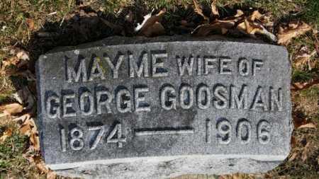 GOOSMAN, MAYME - Erie County, Ohio | MAYME GOOSMAN - Ohio Gravestone Photos