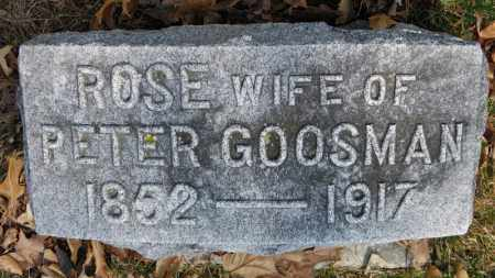 GOOSMAN, ROSE - Erie County, Ohio | ROSE GOOSMAN - Ohio Gravestone Photos