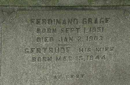 GRACE, FERDINAND - Erie County, Ohio | FERDINAND GRACE - Ohio Gravestone Photos