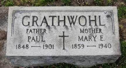 GRATHWOHL, MARYE. - Erie County, Ohio | MARYE. GRATHWOHL - Ohio Gravestone Photos