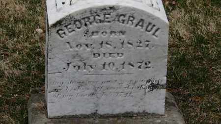 GRAUL, GEORGE - Erie County, Ohio | GEORGE GRAUL - Ohio Gravestone Photos