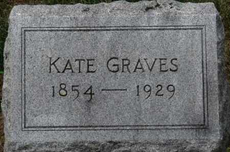 GRAVES, KATE - Erie County, Ohio | KATE GRAVES - Ohio Gravestone Photos