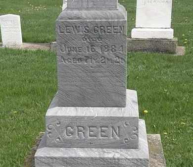 GREEN, LEWIS - Erie County, Ohio | LEWIS GREEN - Ohio Gravestone Photos