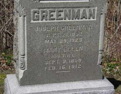 GREENMAN, MARY ELLEN - Erie County, Ohio | MARY ELLEN GREENMAN - Ohio Gravestone Photos