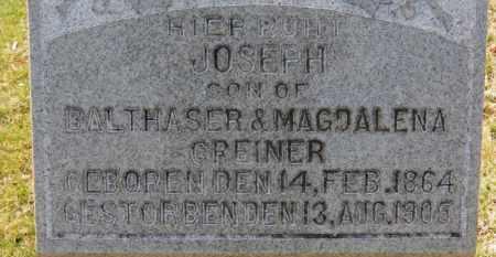 GREINER, JOSEPH - Erie County, Ohio | JOSEPH GREINER - Ohio Gravestone Photos