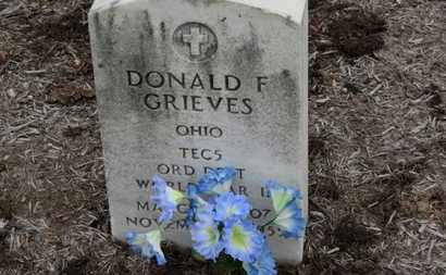 GRIEVES, DONALD F. - Erie County, Ohio | DONALD F. GRIEVES - Ohio Gravestone Photos