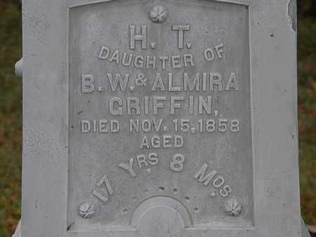 GRIFFIN, H.T. - Erie County, Ohio | H.T. GRIFFIN - Ohio Gravestone Photos