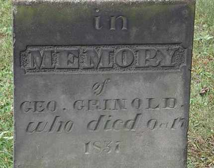 GRINOLD, GEO. - Erie County, Ohio | GEO. GRINOLD - Ohio Gravestone Photos