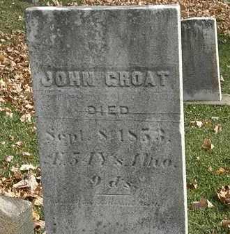 GROAT, JOHN - Erie County, Ohio | JOHN GROAT - Ohio Gravestone Photos
