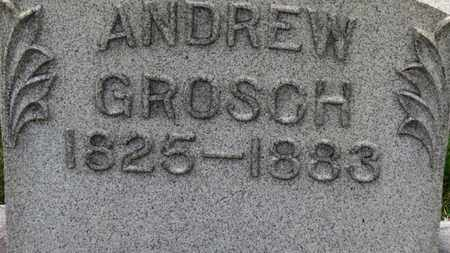 GROSCH, ANDREW - Erie County, Ohio | ANDREW GROSCH - Ohio Gravestone Photos