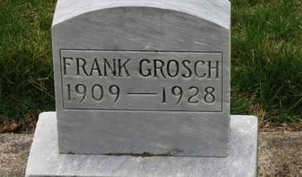 GROSCH, FRANK - Erie County, Ohio | FRANK GROSCH - Ohio Gravestone Photos