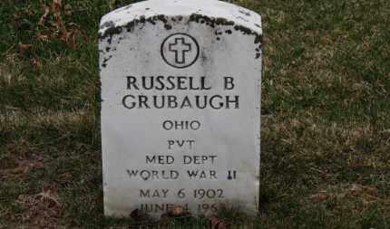 GRUBAUGH, RUSSELL B. - Erie County, Ohio | RUSSELL B. GRUBAUGH - Ohio Gravestone Photos