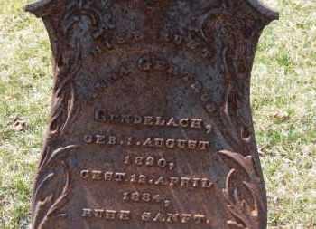 GUNDELACH, ANNA GERTRUD - Erie County, Ohio | ANNA GERTRUD GUNDELACH - Ohio Gravestone Photos
