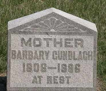 GUNDLACH, BARBARY - Erie County, Ohio | BARBARY GUNDLACH - Ohio Gravestone Photos