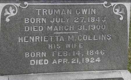 COLLINS GWIN, HENRIETTA M. - Erie County, Ohio | HENRIETTA M. COLLINS GWIN - Ohio Gravestone Photos