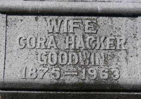 HACKER-GOODWIN, CORA - Erie County, Ohio | CORA HACKER-GOODWIN - Ohio Gravestone Photos