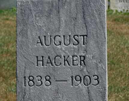 HACKER, AUGUST - Erie County, Ohio | AUGUST HACKER - Ohio Gravestone Photos