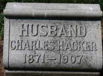 HACKER, CHARLES - Erie County, Ohio | CHARLES HACKER - Ohio Gravestone Photos