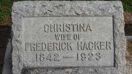 HACKER, CHRISTINA - Erie County, Ohio | CHRISTINA HACKER - Ohio Gravestone Photos