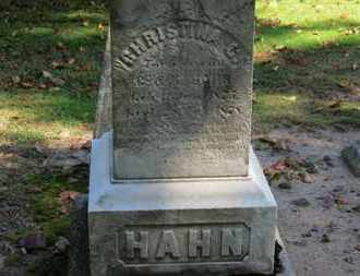 HAHN, C. - Erie County, Ohio | C. HAHN - Ohio Gravestone Photos