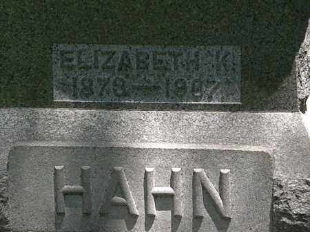 HAHN, ELIZABETH K. - Erie County, Ohio | ELIZABETH K. HAHN - Ohio Gravestone Photos
