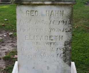 HAHN, GEO. - Erie County, Ohio | GEO. HAHN - Ohio Gravestone Photos