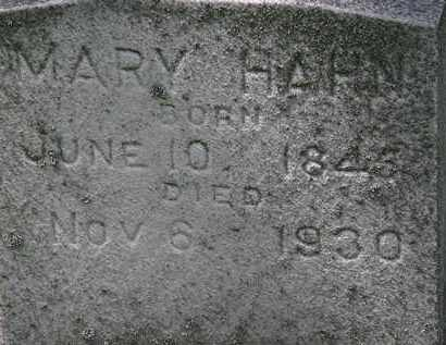 HAHN, MARY - Erie County, Ohio | MARY HAHN - Ohio Gravestone Photos