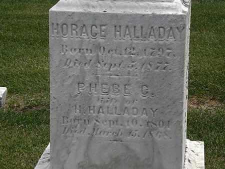 HALLADAY, HORACE - Erie County, Ohio | HORACE HALLADAY - Ohio Gravestone Photos