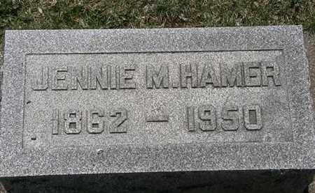 HAMER, JENNIE M. - Erie County, Ohio | JENNIE M. HAMER - Ohio Gravestone Photos