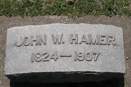 HAMER, JOHN W. - Erie County, Ohio | JOHN W. HAMER - Ohio Gravestone Photos