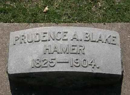 BLAKE HAMER, PRUDENCE A. - Erie County, Ohio | PRUDENCE A. BLAKE HAMER - Ohio Gravestone Photos