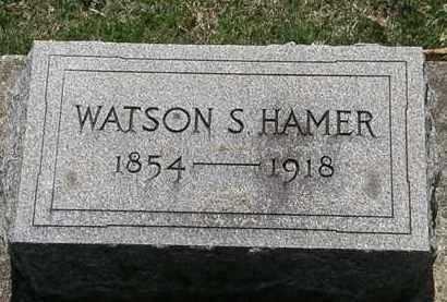 HAMER, WATSON S. - Erie County, Ohio | WATSON S. HAMER - Ohio Gravestone Photos