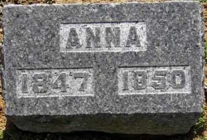 HAMILTON, ANNA - Erie County, Ohio | ANNA HAMILTON - Ohio Gravestone Photos
