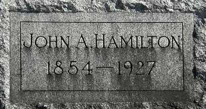 HAMILTON, JOHN A. - Erie County, Ohio | JOHN A. HAMILTON - Ohio Gravestone Photos