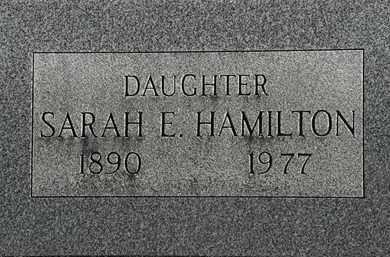 HAMILTON, SARAH E. - Erie County, Ohio | SARAH E. HAMILTON - Ohio Gravestone Photos