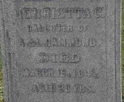 HAMMOND, A. - Erie County, Ohio | A. HAMMOND - Ohio Gravestone Photos